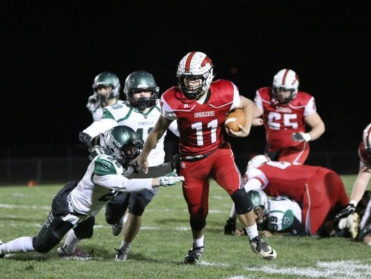 New Palestine quarterback Alex Neligh committed to the University of Indianapolis