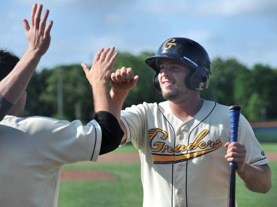 Austin Adams, a Colonel Crawford Alum, played for the Galion Graders over the summer