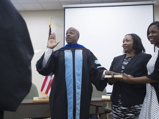 Andre Harrison sworn in as the superintendent of the Elmore County School system on Jan. 2.