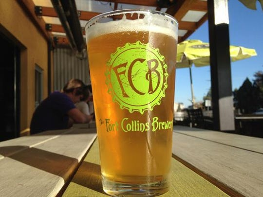 A beer at Fort Collins Brewery.