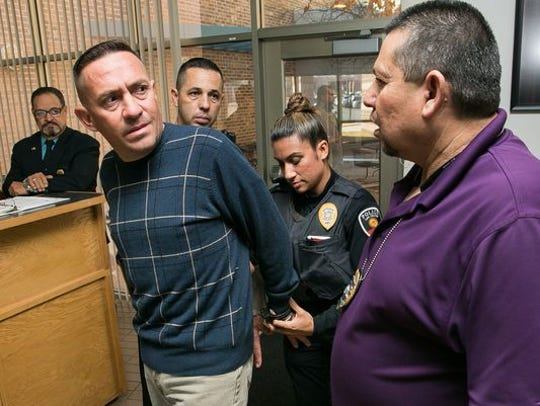 Stephen Siddall speaks with Las Cruces Police Department