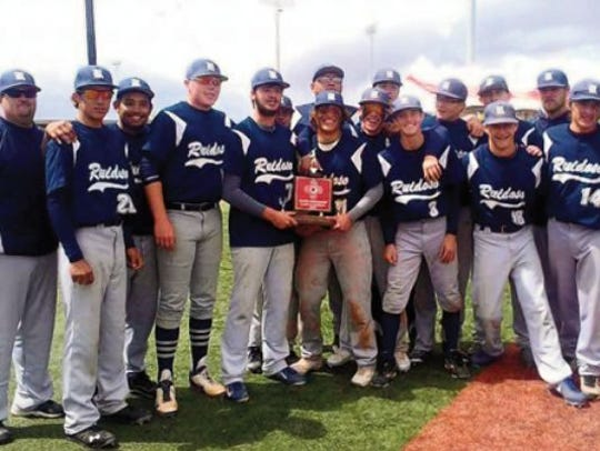 The Ruidoso Warriors baseball team was the Class 4A