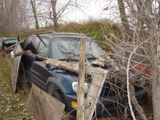 The SUV belonging to Teresa Halbach, which was found