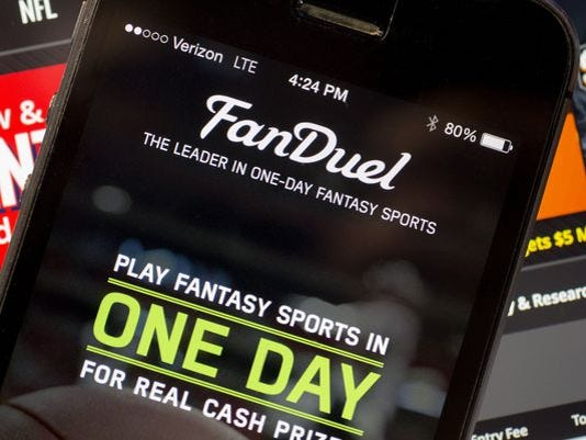 FanDuel on phone