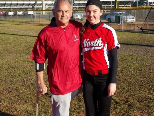 Late North Fort Myers softball coach John Keyes passed in October to health complications. His Red Knights team is dedicating the season to him.
