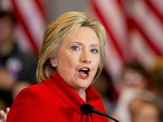Democratic presidential candidate Hillary Clinton chimed