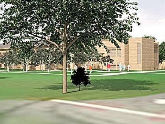 Artist rendering of proposed French-American School