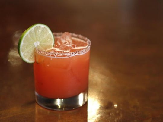 Casper, a spicy margarita made with ghost chili syrup, at 8 North Broadway in Nyack.