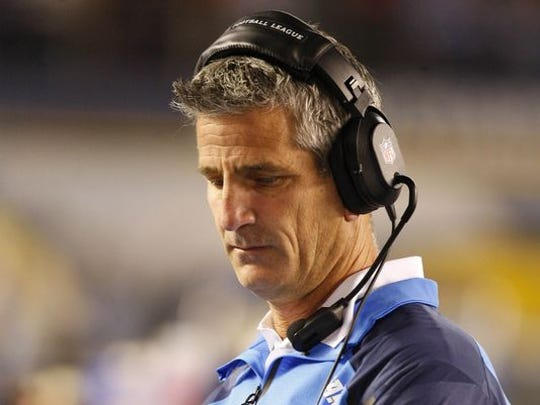 New Philadelphia Eagles offensive coordinator and Cedar Crest alum Frank Reich paces the sidelines during a regular-season game last fall in San Diego.