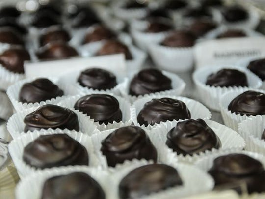 Pictured are various dark chocolates at The Chocolate Lady in Mesilla.