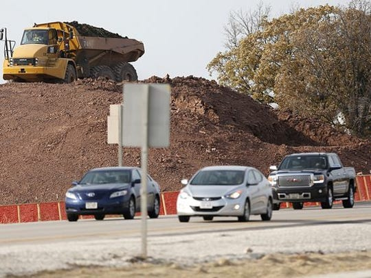 Road construction at Highway 151 and County T will