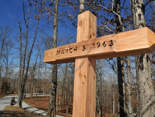 A memorializes the area on Mount Carmel Road on Feb.