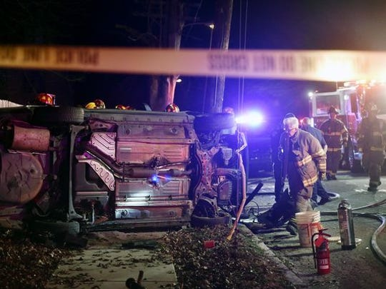 Fire crews and police responded to a crash on Elm Terrace near Linden Avenue. This week, police charged the driver with attempted homicide in the crash.