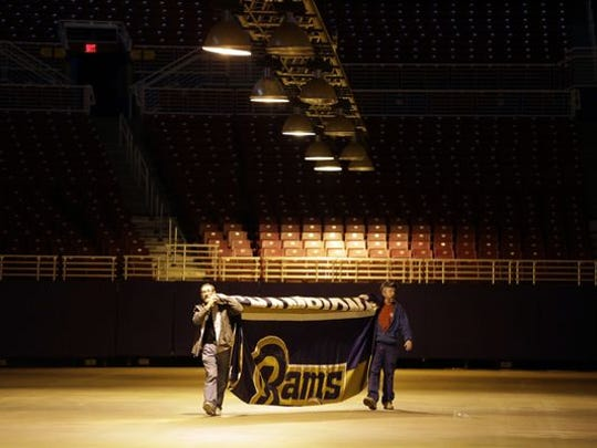 The Rams are moving out of St. Louis, headed back to Los Angeles after more than two decades.