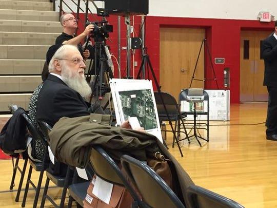 Rabbi Shlomo Lesin, prinicpal Yeshiva Gedolah Na'os Yaakov, at the Dec. 1 Ocean Township Zoning Board of Adjustment public hearing.