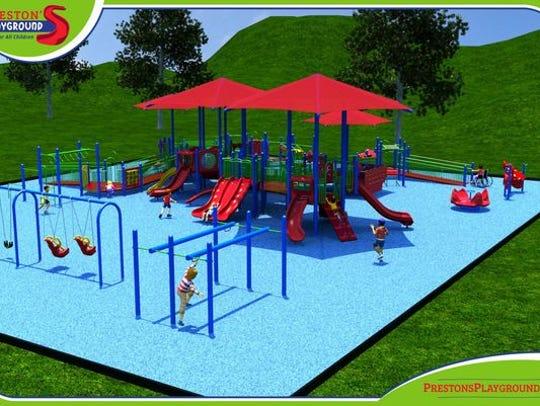 Renderings of Preston's Playground.
