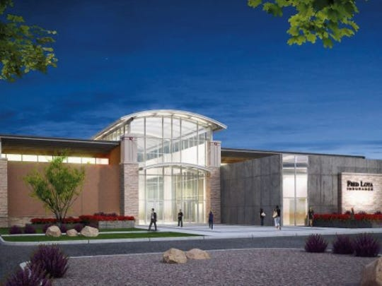 An architect's rendering of the planned $10 million Fred Loya Insurance claims processing center to be built in East El Paso.