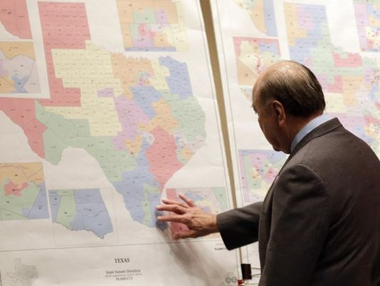 Texas redistricting maps