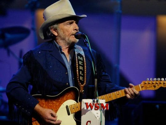Merle Haggard at The Grand Ole Opry, Saturday, Sept. 27, 2003.