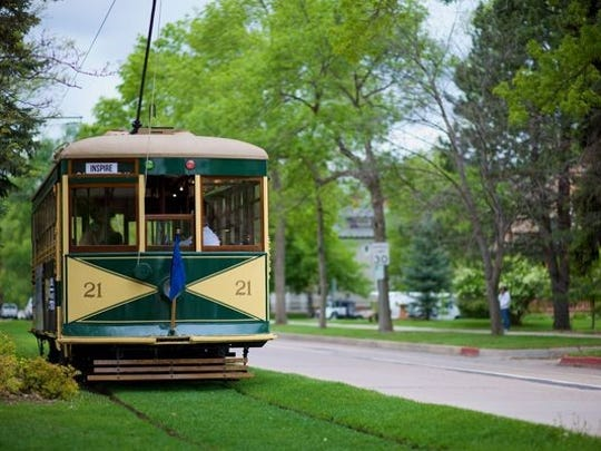 The trolley is a downtown landmark and a fun way to