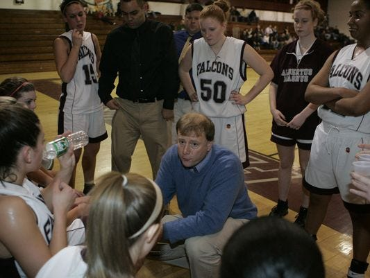 Joe McGuinness, shown coaching in 2007, passed away on Feb. 12, 2016 at 56. He won both boys and girls Section 1 championships at Albertus Magnus.