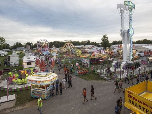 Delaware County Fair midway