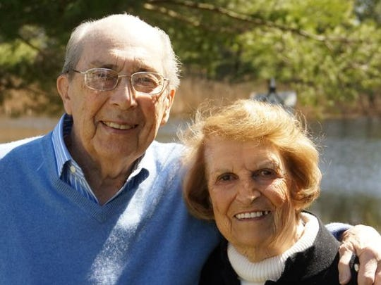 Ocean County 95-year-olds Bob Berry and Marjorie Webster