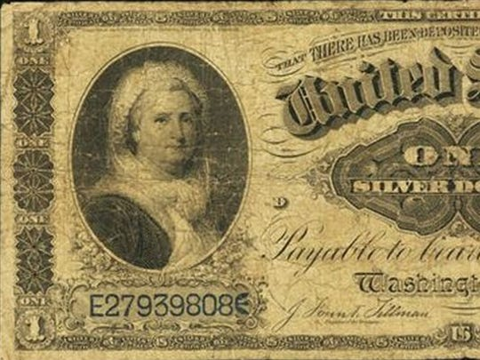 The last time a woman appeared on any U.S. paper note was in the 1800's, when Martha Washington appeared on a $1 silver note.
