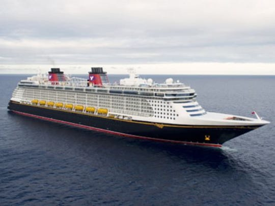 Disney Fantasy, built by Disney Cruise Line in 2012, measures 130,000 GT and carries 2,500 passengers at double occupancy.