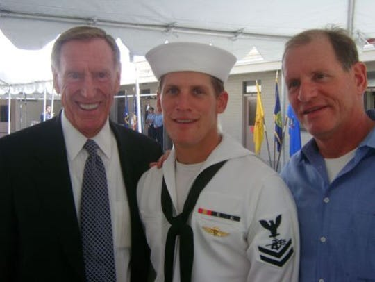 Charles Keating IV (center) with his grandfather Charles