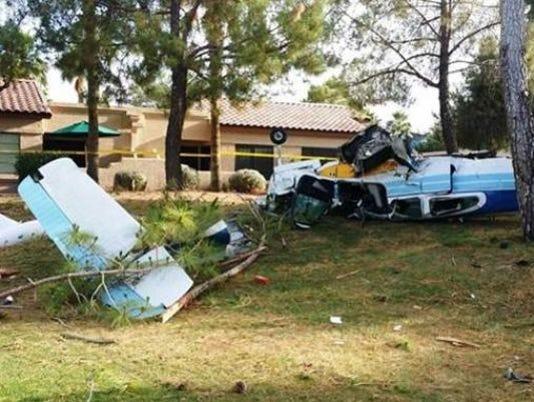 Surprise plane crash