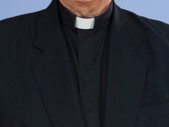 Stock photo of a priest's collar.