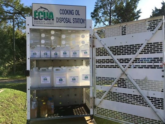 Located in the Ever' Man's parking lot in downtown Pensacola is an unassuming, 6-foot-tall grated metal box, filled with rows of empty 2 1/2-gallon plastic jugs. The bottom row of the box is reserved for jugs people returning the filled jugs.