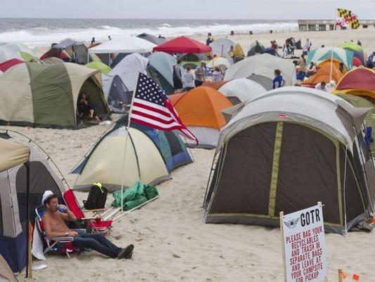Seaside Beach camping