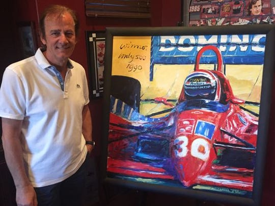 Arie Luyendyk collects artwork, and for a time he sold it, too.