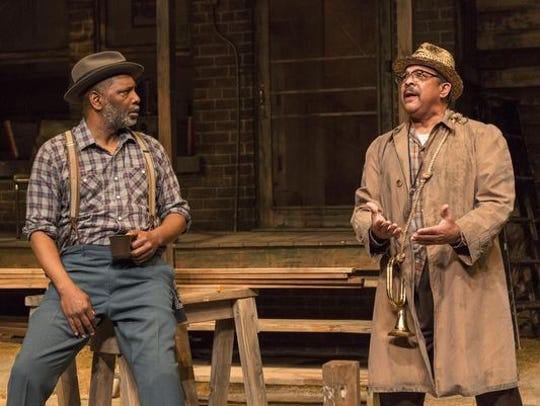 David Alan Anderson and Terry Bellamy in IRT's 2016