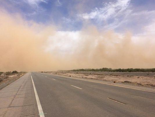 Interstate 10 dust storm