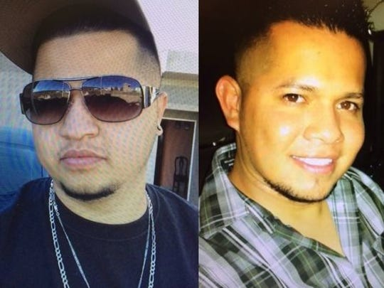 From left, Jorge Luis Zendejas-Cano, 29, and Miguel