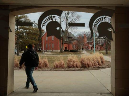 Michigan State campus.