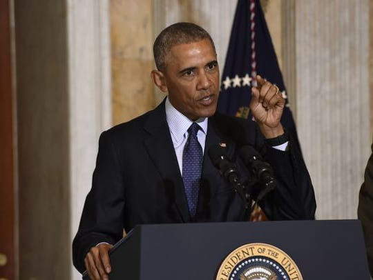 President Obama speaks at the Treasury Department Tuesday