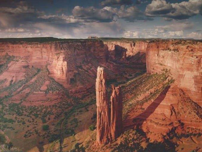 Centuries ago, people built shelters into the canyon's