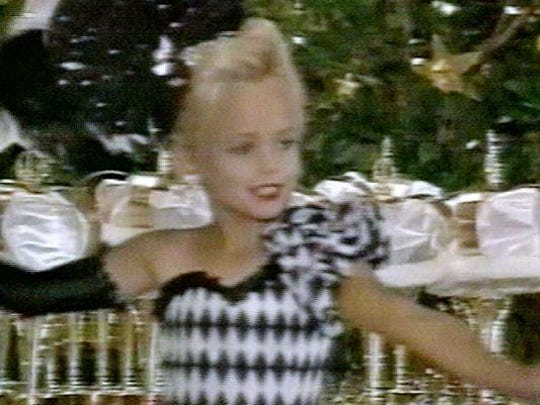 This file image made from an undated family video shows JonBenet Ramsey performing during a beauty pageant. She was murdered on Christmas Day 1996.