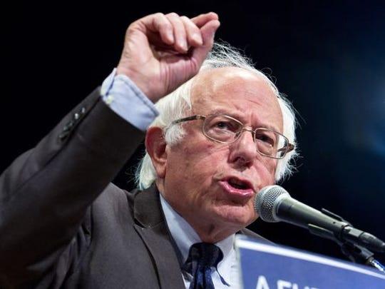 Former presidential candidate Bernie Sanders
