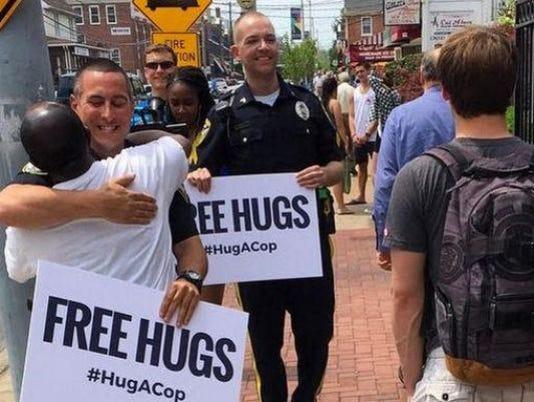Hug a Cop