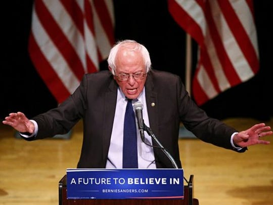 This file photo taken on June 22, 2016 shows Democratic presidential candidate Bernie Sanders during an event in New York. Bernie Sanders will join Hillary Clinton at a presidential campaign rally in New Hampshire on July 12, 2016 at which he is expected to deliver his long-awaited endorsement.