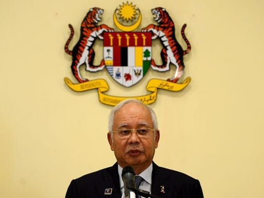 Malaysia Prime Minister Najib Razak is shown. He established the sovereign wealth fund known as 1MDB to develop investment and economic development projects for his country. U.S. investigators allege billions of dollars were diverted from the fund in a money laundering scheme.