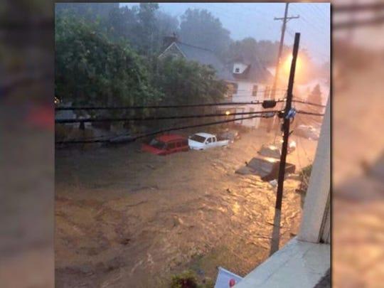 Flooding destroyed parts of Ellicott City, Md. overnight.