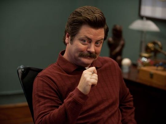 """PARKS AND RECREATION -- """"Leslie vs. April"""" Episode 507 -- Pictured: Nick Offerman as Ron Swanson"""