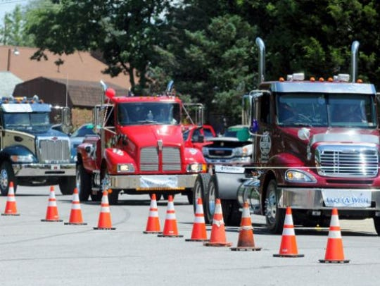A file photo of the Franklin County Truck Convoy for