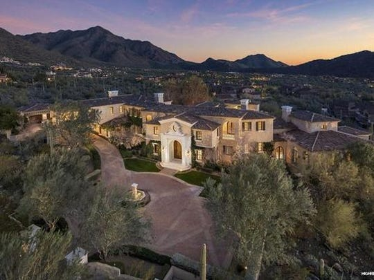 A view of a $5.7 million mansion in north Scottsdale's Silverleaf neighborhood.